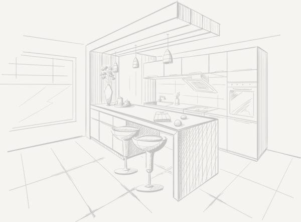 Disegno di cucina in legno artigianale