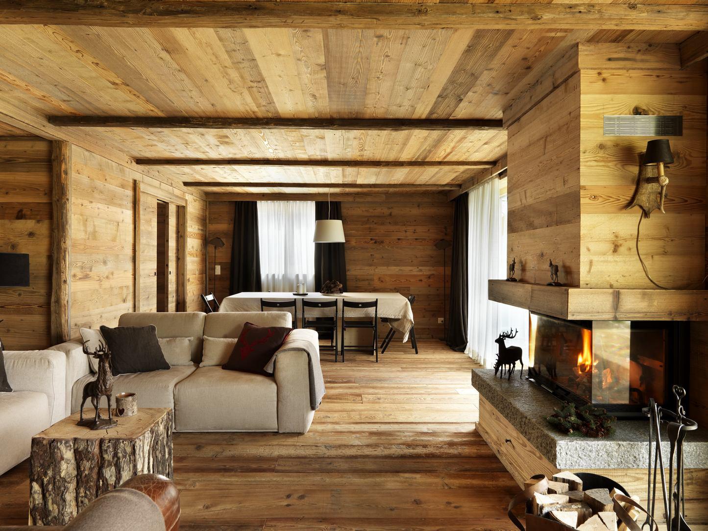 Wooden living room furniture | Falegnameria Maestri