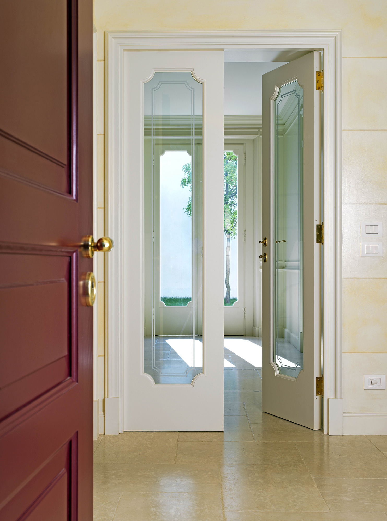 Porte Interne A Due Ante Battenti.Custom Wood Internal Doors Falegnameria Maestri