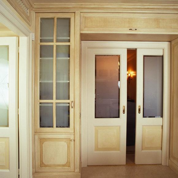 Porta interna scorrevole classica in legno