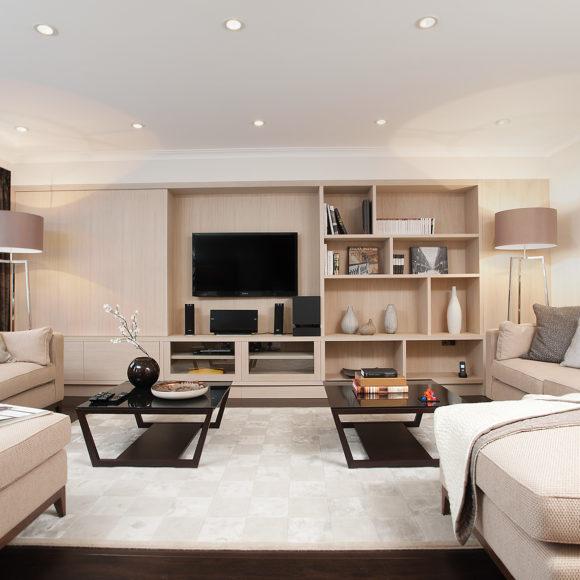 Appartamento contract a Londra con arredi in legno su misura